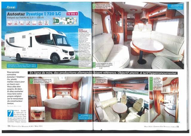 Camping car intégral PRESTIGE, encensé par un des poids-lourds de la presse spécialisée