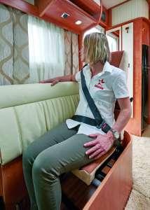 Sécurité en camping-car Siège face-route