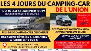 4 jours du camping-car de l'Union du 10 au 13 Janvier 2019 - Toulouse