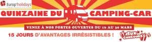 Quinzaine du camping-car europ'holidays