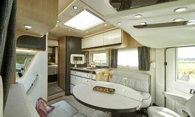 camping-car intégral nouvelle génération PRESTIGE DESIGN EDITION 2020 - Salon face à face