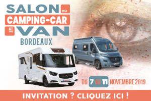 salon du camping-car et du van à Bordeaux - 7 au 11 novembre 2019