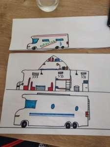 dessin camping-car pendant le confinement
