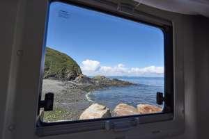 belle vue du camping-car pour des vacances en bretagne