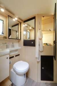 camping-car profilé compact salle de bain